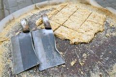Bocados chinos - torta del sésamo Foto de archivo libre de regalías