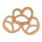 Bocados de Alemania del pretzel ilustración del vector