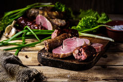 Bocados de la carne hechos en casa Fotos de archivo libres de regalías