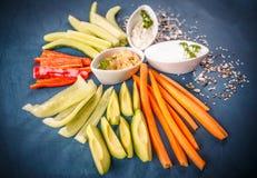 Bocados de las verduras frescas imagen de archivo