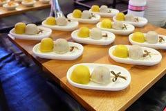 bocados del comida para comer con los dedos Foto de archivo