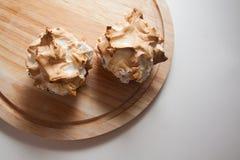 Bocados del merengue con la calabaza Imagen de archivo