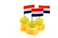 Bocados del queso de Holanda imágenes de archivo libres de regalías
