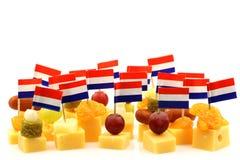 Bocados del queso de Holanda Imagenes de archivo