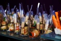 Bocados en la comida fría imagen de archivo libre de regalías