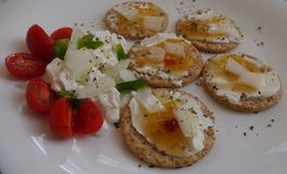 Bocados frescos de las verduras sanas de la comida Imagen de archivo