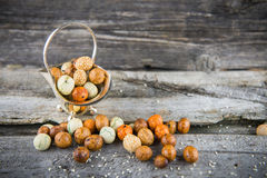 Bocados Nuts Fotos de archivo