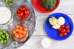 Bocados sanos de la comida campestre Fotos de archivo libres de regalías