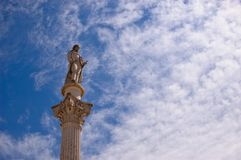 Bocage雕象在Setubal 免版税库存照片
