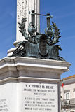 Bocage Statue in Setubal, Portugal. Statue of the satirical writer and poet Manuel Maria Barbosa du Bocage, in downtown Setubal, Portugal Royalty Free Stock Photos