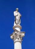 Bocage staty i Setubal den historiska mitten, Portugal Arkivbilder