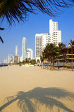Bocagrande beach  Cartagena Colombia Royalty Free Stock Image