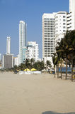 Bocagrande beach  Cartagena Colombia Royalty Free Stock Photography