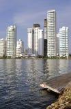 Bocagrande neighborhood of Cartagena, Colombia Royalty Free Stock Photography