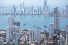 Bocagrande neighborhood of Cartagena Stock Image
