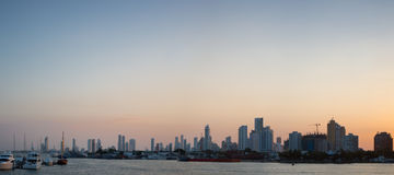 Bocagrande neighborhood with sunset Stock Photo