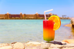 Bocal of colorful cocktail Royalty Free Stock Photos