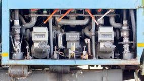 Bocal de combustível para encher-se acima dos aviões imagem de stock