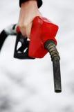 Bocal de gás na mão da mulher Fotos de Stock Royalty Free
