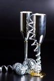 Bocals de plata y decoración serpentina Imágenes de archivo libres de regalías
