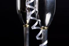 Bocals de plata y decoración serpentina Foto de archivo libre de regalías