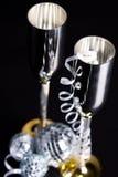 Bocals de prata e decoração serpentina Fotografia de Stock