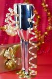 Bocals de prata e decoração serpentina Imagens de Stock Royalty Free