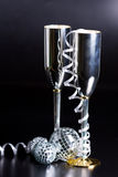 bocals dekoraci serpentyny srebro Obrazy Royalty Free