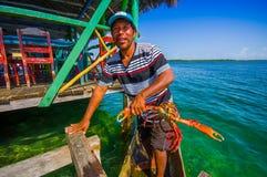 BOCAS台尔托罗,巴拿马- 2015年4月24日:地方 图库摄影