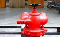 Bocas de incendios al aire libre rojas Fotografía de archivo libre de regalías