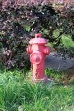 Bocas de incendios al aire libre rojas Imagen de archivo