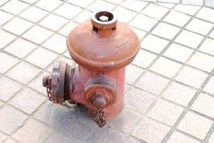 Bocas de incendios al aire libre rojas Fotografía de archivo