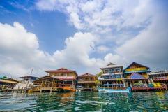 Bocas del Toro är huvudstaden av landskapet Arkivbilder