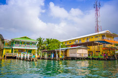 Bocas del Toro is the capital of the province Stock Images