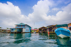 Bocas del Toro is the capital of the province Stock Photos