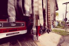 BOCAS DEL TORO, PANAMA - 23. APRIL 2015: Feuer Lizenzfreie Stockbilder