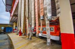 BOCAS DEL TORO, PANAMA - 23. APRIL 2015: Feuer Lizenzfreies Stockbild