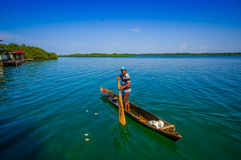 BOCAS DEL TORO, PANAMA - APRIL 24, 2015 : local Stock Photo