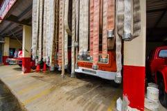 BOCAS DEL TORO, PANAMA - 23 APRILE 2015: Fuoco Immagini Stock