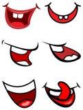 Bocas divertidas de la sonrisa ilustración del vector