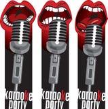 Bocas do microfone ilustração royalty free