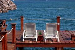 Bocas Town Hotel deck, Bocas del Toro, Panama Royalty Free Stock Image