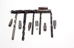 Bocas y taladros para los destornilladores Fotografía de archivo libre de regalías