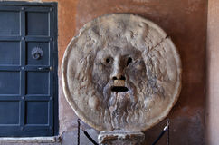 Bocca della Verita, The Mouth of Truth in Rome, Italy Royalty Free Stock Photography