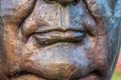 Bocca di Buddha nel silenzio immagini stock