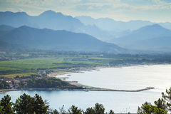 Bocca di magra view. Beautiful bocca di magra port view on a sunny day Royalty Free Stock Images