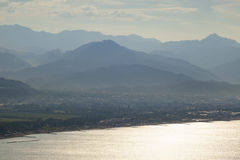 Bocca di magra view. Beautiful bocca di magra view on sunrise Royalty Free Stock Image