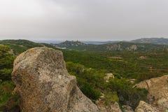 Bocca Di Roccapina. Observation post and view near Bocca Di Roccapina, Corse-du-Sud, Corsica, France Stock Images