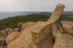 Bocca Di Roccapina. Observation post and view near Bocca Di Roccapina, Corse-du-Sud, Corsica, France Stock Image