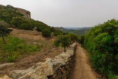 Bocca Di Roccapina. Observation post and view near Bocca Di Roccapina, Corse-du-Sud, Corsica, France Royalty Free Stock Images